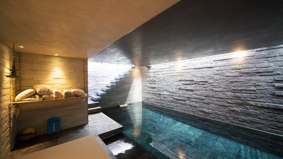 Luxury underground pool area in high-end home