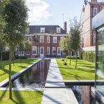 View from garden of luxury Kensington home featuring smart technology
