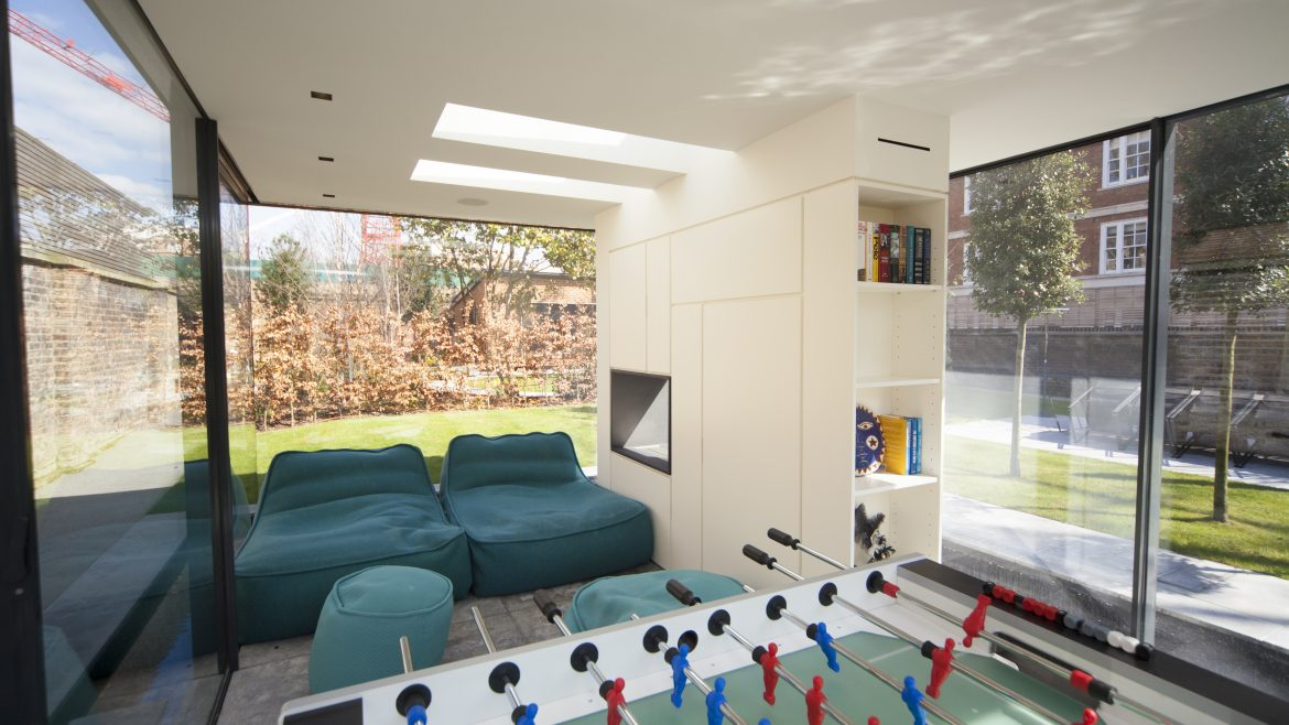 Snug area featuring smart home automation