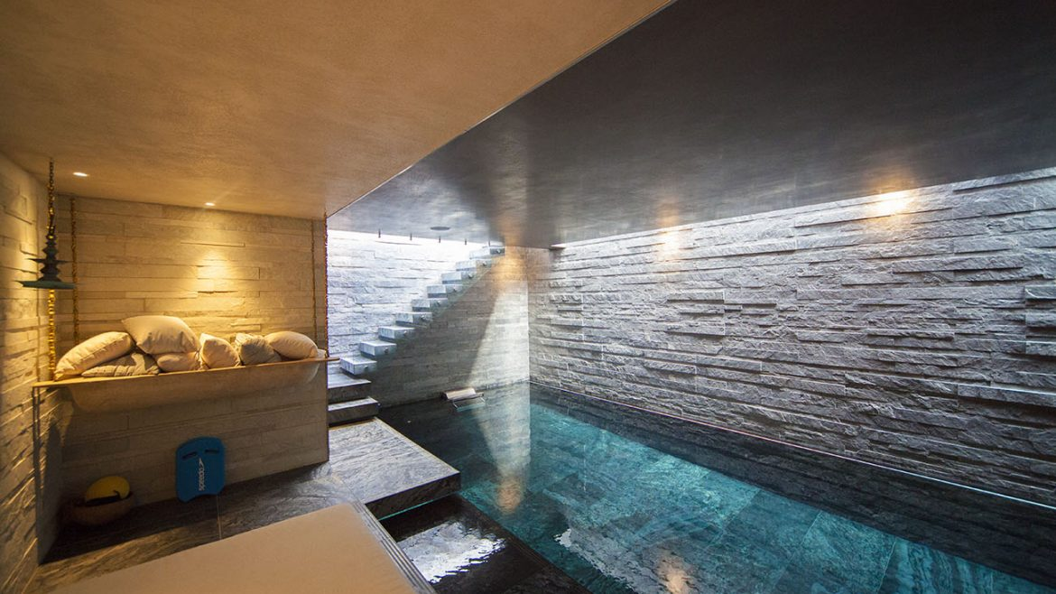 Underground pool area in Luxury london home