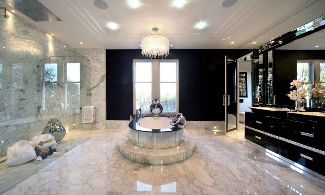 Large bathroom area in luxury London home