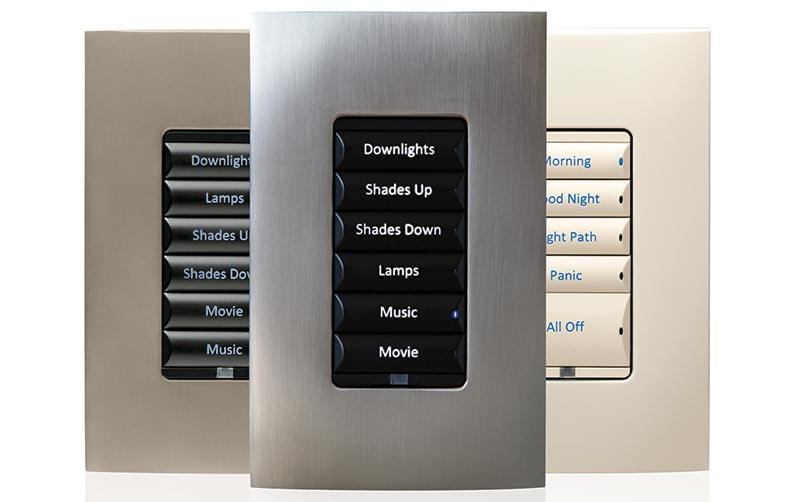 Custom Smart Home Buttons: Crestron, Control4 and Lutron