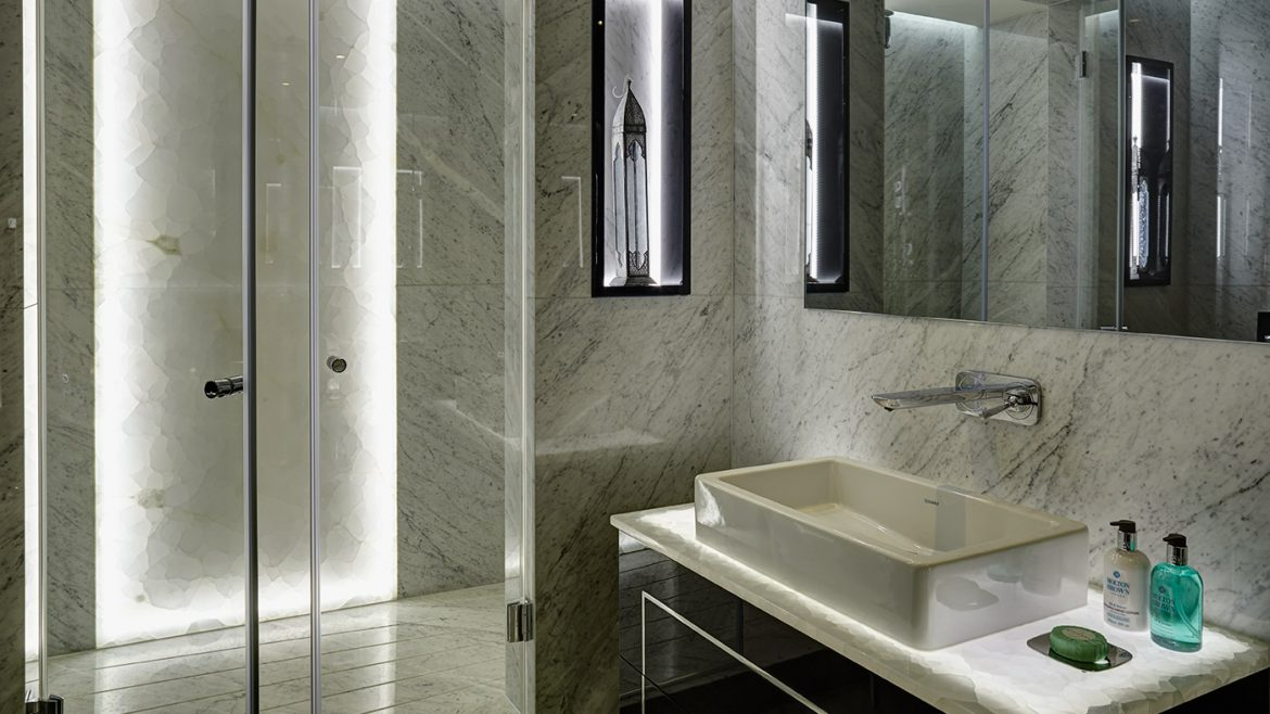 Bathroom featuring smart lighting features in Hyde Park