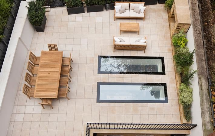 Ariel view of front garden featuring smart integrated smart tech