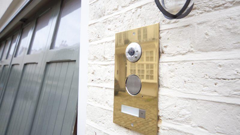 External Custom Made Gira Brass Door Entry Panel