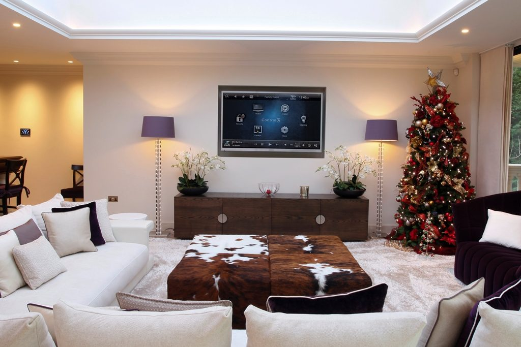 Smart home featuring AV solutions during Christmas period