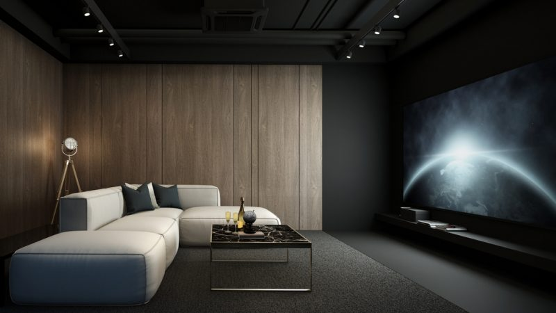 Inside luxury home with complete cinema design