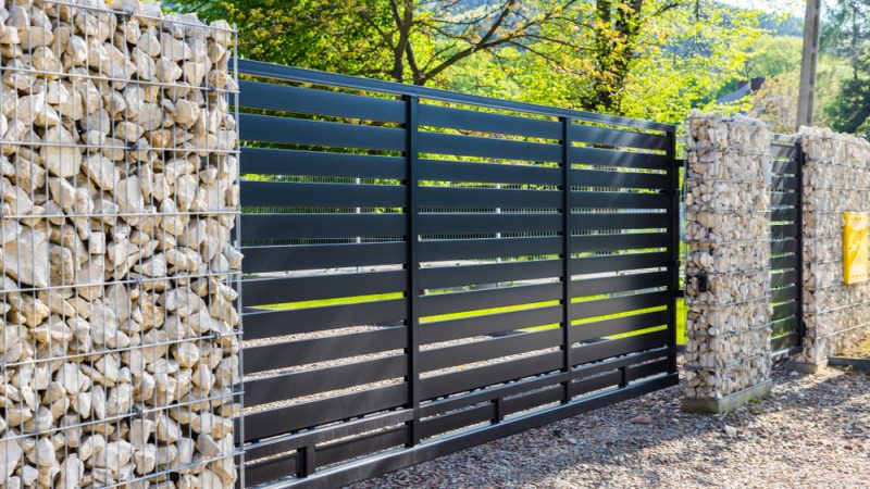 perimeter fence around property
