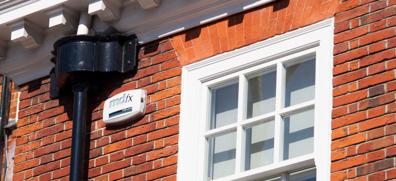 Intruder alarm system installed by mdfx in west london