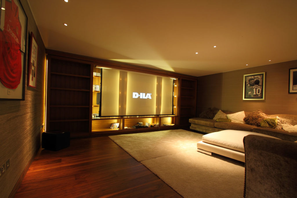 Home Theatre with big projector screen