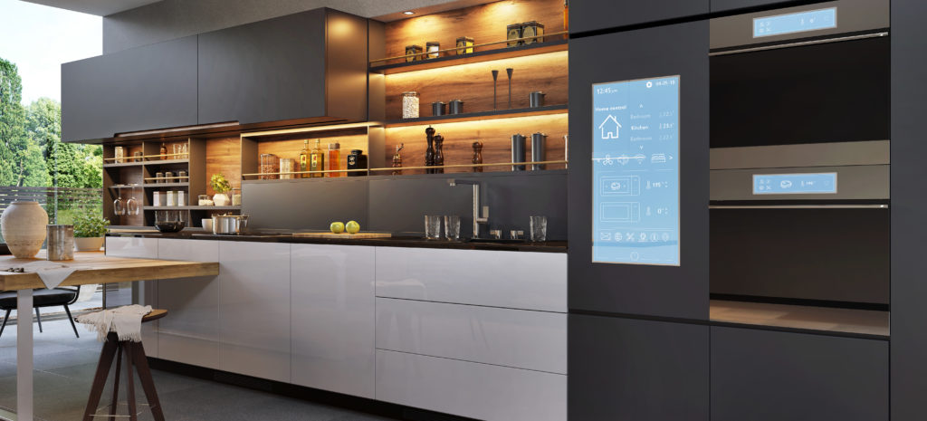 Home-Kitchen-Interior-Design-by-MDfx-Within-black-kitchen-with-wooden-cupboards-and-recessed-cupboard-lighting