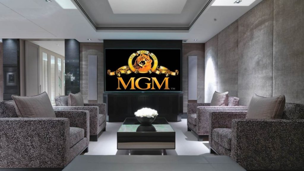 home cinema room designed by MDfx including automated lighting 1