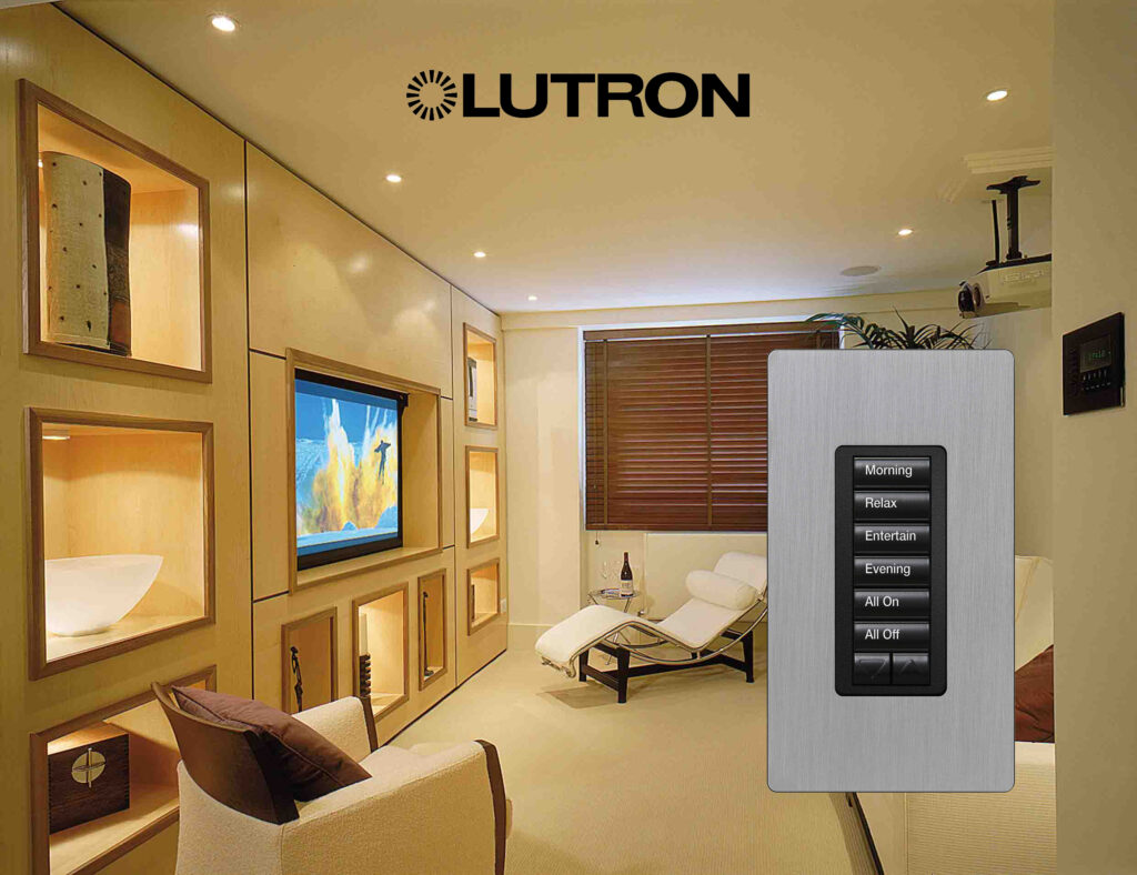 Lutron lighting smart home control system