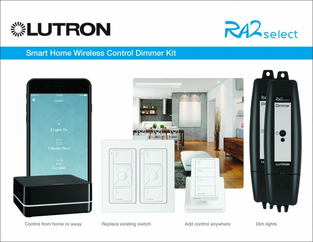 Lutron-RA2-Select starter kit sold and installed by MDfx Select