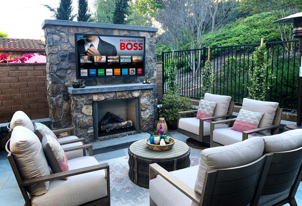 Outdoor TV - TV In garden - MDfx install outdoor cinemas in West London