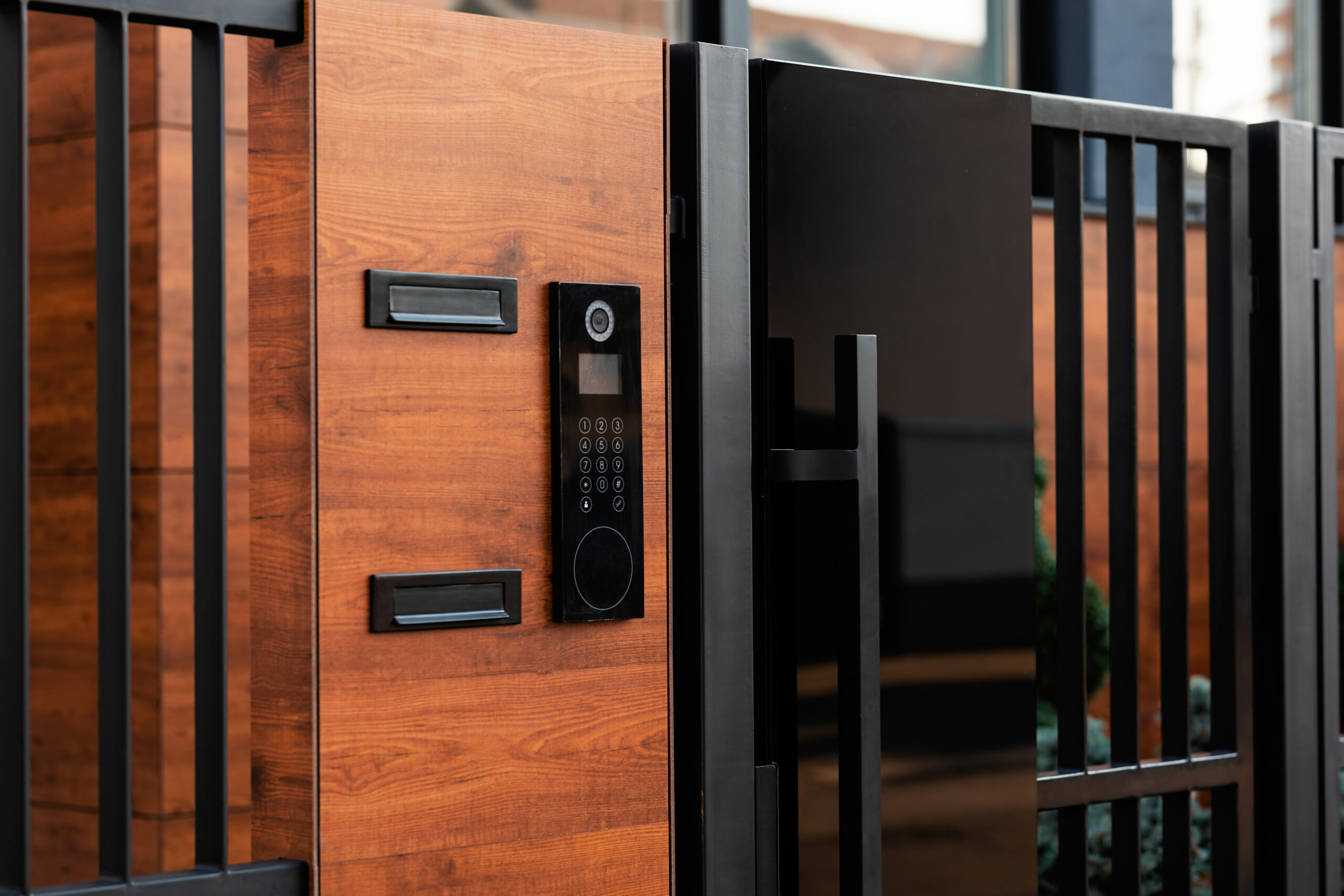 Intercom on entrance of an residential building - home security system - smart security system - Mdfx Within Home security installer in west london
