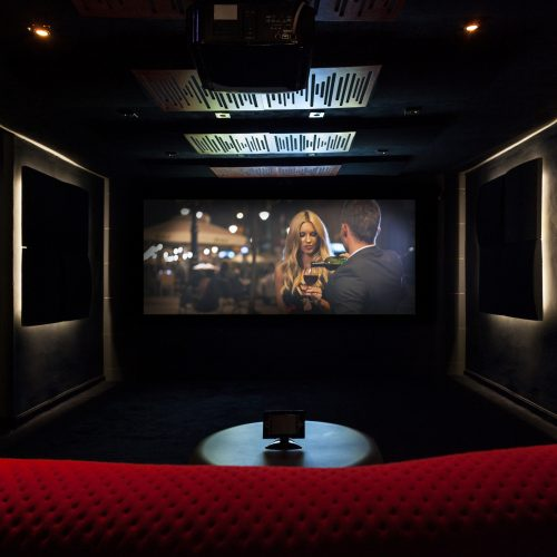 Private cinema at modern and luxury house